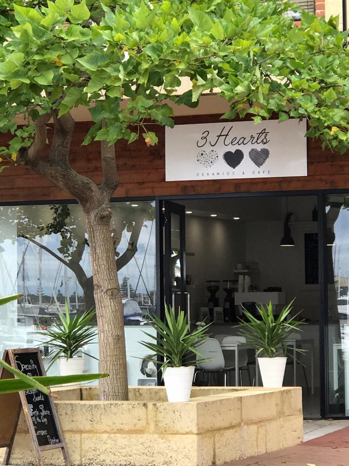 3 Hearts Ceramic Cafe Mandurah