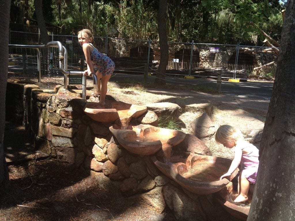 Perth Zoo water playground