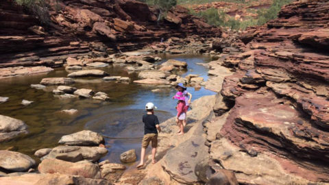 Kalbarri National Park Z-Bend River Trail Lookout and Walk