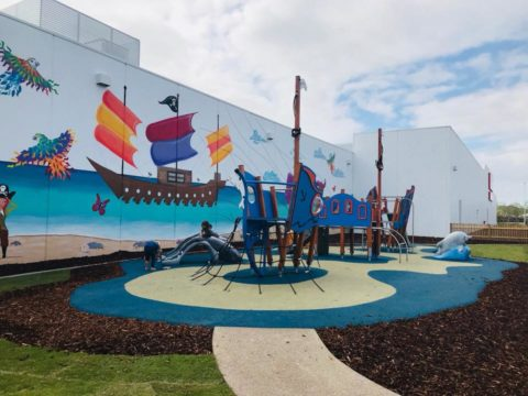 Pirate Play area at Secret Harbour Square