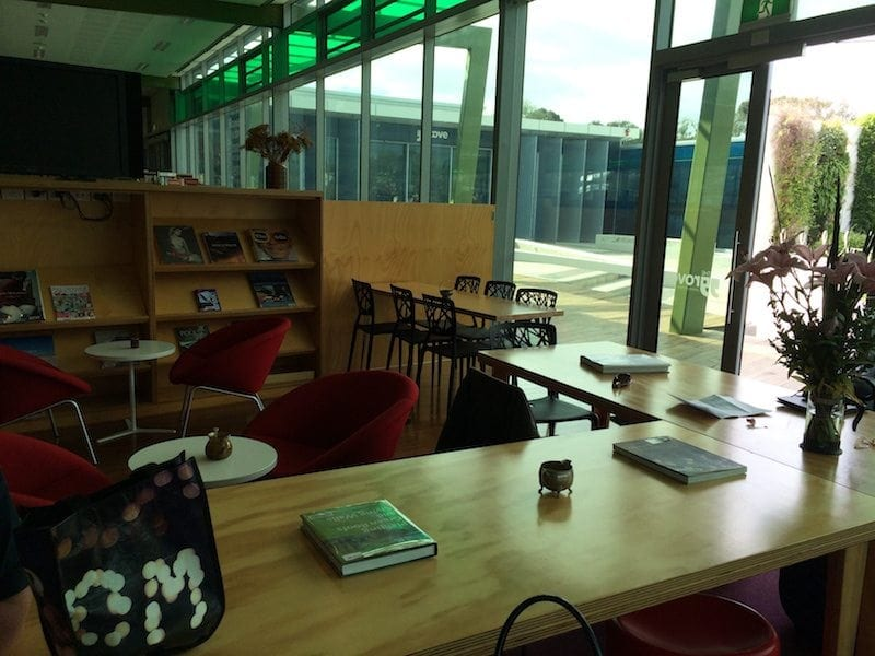 Monogram Cafe and The Grove Library