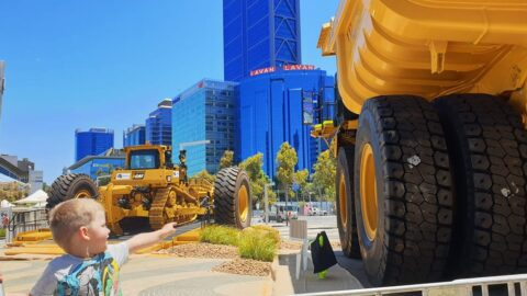 Mining Machinery at Elizabeth Quay