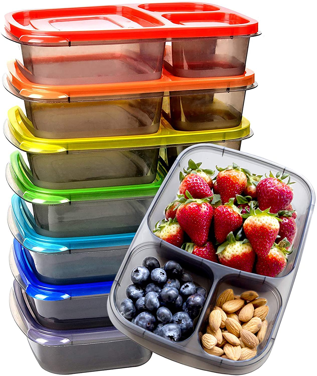 Youngever 7 Pack Bento Lunch Box