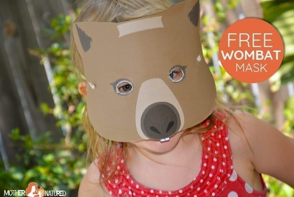 free wombat mask book week